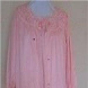 01a4a2ca73 Vintage Peignoir Pink Lingerie 2 Piece Set